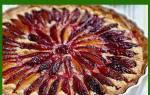 Рецепт сливового пирога из свежих плодов с пошаговым фотом