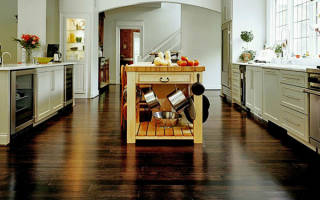Напольное покрытие для кухни — керамогранит, линолеум, видео