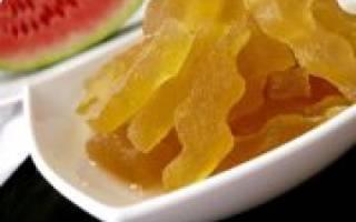 Мармелад из арбузных корок — пошаговый рецепт с фото, видео