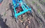 Мотоблок — дополнительное оборудование для сбора картошки, видео