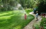 Системы полива газона — дождеватели, разбрызгиватель, автоматический полив, поливалка, видео