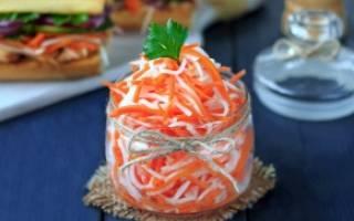 Рецепты салата из редьки с курицей, морковью, огурцами, яйцом