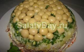 Салат с маринованными грибами — рецепт вкусных салатов с фото, видео