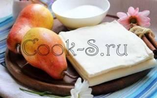 Пирог с грушами — простой рецепт, в мультиварке, из слоеного теста, с творогом, яблоком, видео