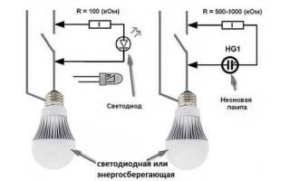 Почему мигает энергосберегающая лампа при выключенном свете, видео