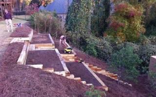 Как обустроить огород на склоне, видео