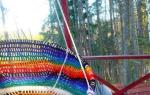 Подвесной гамак-кресло — изготовление своими руками, видео