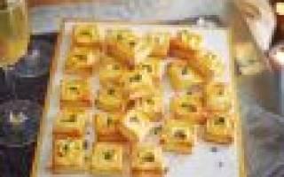 Закуски из слоеного теста для праздничного стола, рецепты с фото, видео