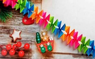 Елочная гирлянда новогодняя светодиодная, из шаров, веток, бумаги, фото, видео