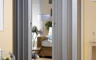 Дверь гармошка — установка складывающейся модели, механизмы, видео