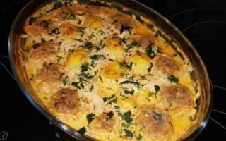 Тефтели с картошкой в духовке — пошаговые рецепты с фото, видео