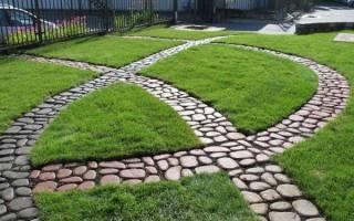 Комбинированные садовые дорожки — подбор материалов, идеи, видео