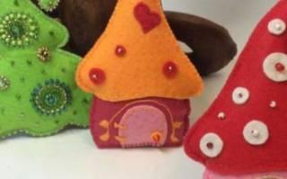 Елочные игрушки из фетра своими руками — выкройки, шаблоны, видео