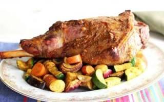Баранья нога, запеченная в духовке в фольге или рукаве, пошаговые рецепты с фото, видео