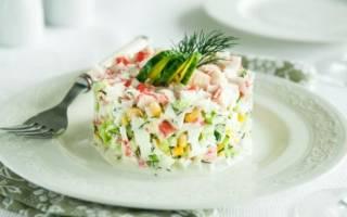 Салат с крабовыми палочками и кукурузой, рецепты с пошаговыми фото, видео