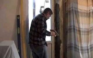 Штукатурка откосов дверей и окон, как выровнять откос шпаклевкой, видео
