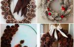 Новогодний венок из шишек еловых своими руками, лучшие идеи