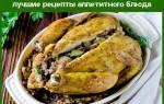 Курица, фаршированная гречкой в духовке — рецепты с грибами, луком