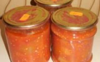Салат с баклажанами и помидорами — репты приготовления заготовки на зиму с добавлением чеснока, моркови, болгарского перца, видео