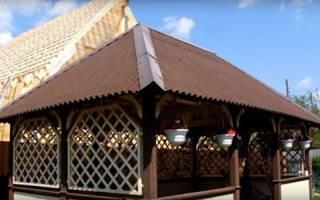 Беседка из дерева — правила строительства от фундамента до крыши, видео