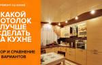 Потолок на кухне — как и из чего сделать, практичный выбор, видео