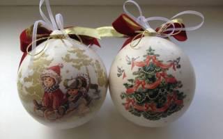 Елочные шары своими руками с логотипом, фотографией, канзаши, декупаж, фото, видео