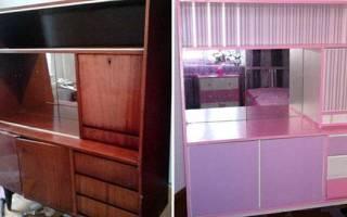 Переделка мебели своими руками, реставрация шкафа, стола, видео