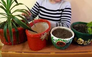 Цветочный горшок из яичных лотков, техника папье-маше, видео
