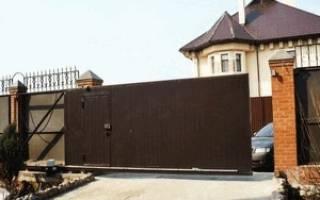 Откатные ворота с калиткой внутри, фото металлических конструкций, видео