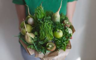 Как сделать композицию из овощей, букеты и животные
