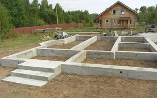Ленточный фундамент для дома — схема, этапы строительства, видео