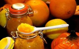 Джем из тыквы с лимоном, апельсином, яблоками, грецкими орехами, рецепты, видео