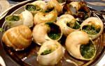 Французское блюдо из улиток виноградных — варианты приготовления