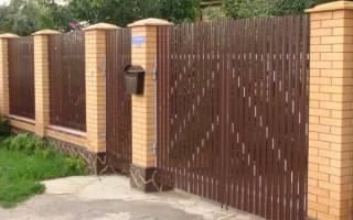 Забор из металлического штакетника, установка забора из евроштакетника, видео