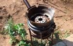 Барбекю — мангал из автомобильного диска, тонкости изготовления, видео