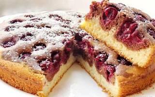 Пирог с вишней — рецепты с фото пошагово, в мультиварке, на кефире, из слоеного теста, заливного пирога, видео