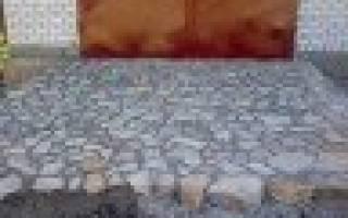 Дорожка садовая — укладка из натурального камня, подсветка, видео