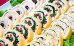 Закуска — сырный рулет с тремя разными начинками, рецепт, видео