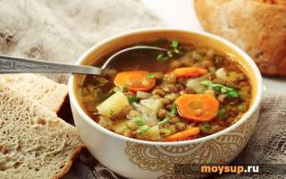 Рецепт супа из чечевицы — с мясом, курицей, свининой, копченостями