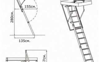 Чердачная лестница с люком, складная, размеры, установка, видео
