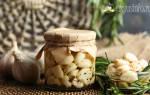 Маринованный чеснок — рецепты приготовления с уксусом и без, видео
