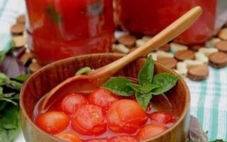 Помидоры в томатном соку — пошаговый рецепт заготовки на зиму, видео