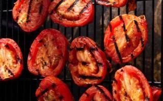 Как приготовить помидоры на гриле, особенности процедуры