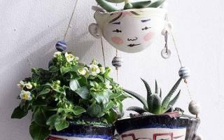 Кашпо для цветов своими руками для сада и дома, подвесные и напольные, видео