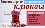 Морс из клюквы — как приготовить из замороженных ягод, пошаговые рецепты, фото, видео