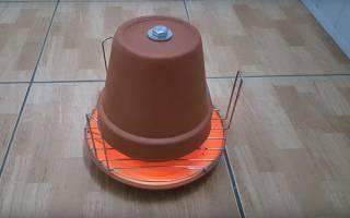 Обогреватель из глиняных горшков, как сделать самостоятельно, инструкция по изготовлению, видео