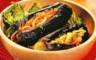 Квашеные баклажаны фаршированные овощами на зиму — рецепты приготовления с морковью, перцем, луком, чесноком и зеленью, видео