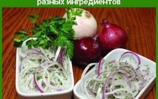 Рецепт лукового салата классический, еврейский, с сыром, яблоком