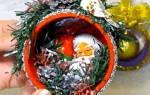 Елочные игрушки из бобин от скотча — мастер-класс, видео