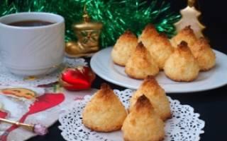 Кокосовое печенье в домашних условиях — пошаговые рецепты с фото, видео